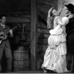 Andrew Burlinson, Meg McWilliams, and Jeff Meacham in The Taming of the Shrew, 2000. Photo credit: Cat Gareth