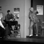 Charlie Reiman, Jim Woodham, Peter Gaitens, Vito D'Erasmo and Steve Markuson in Golden Boy, 2000. Photo credit: Cat Gareth